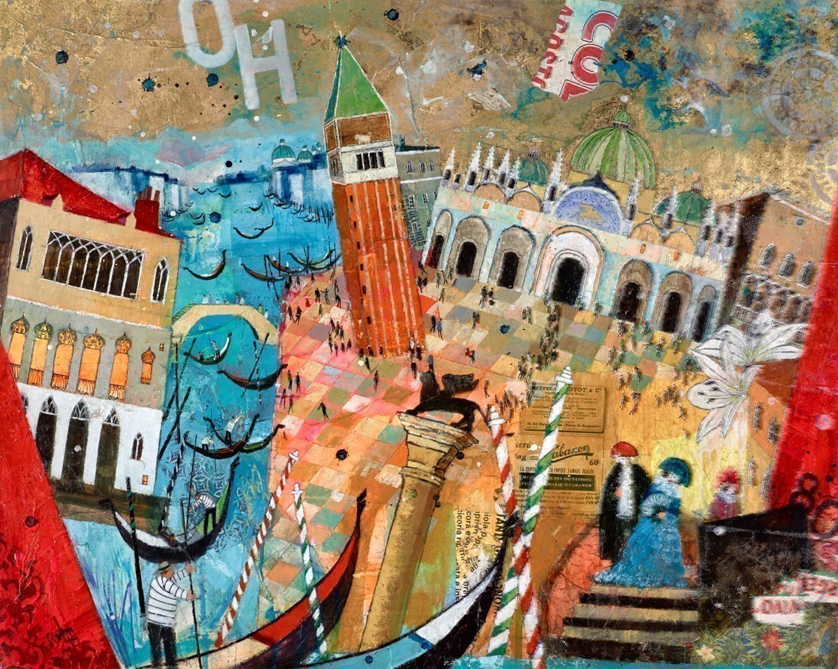 Masquerade by Richard Burel -  sized 39x32 inches. Available from Whitewall Galleries